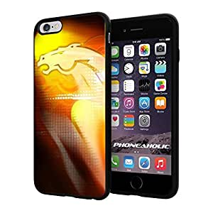 """NFL Denver Broncos , Cool iPhone 6 Plus (6+ , 5.5"""") Smartphone Case Cover Collector iphone TPU Rubber Case Black"""