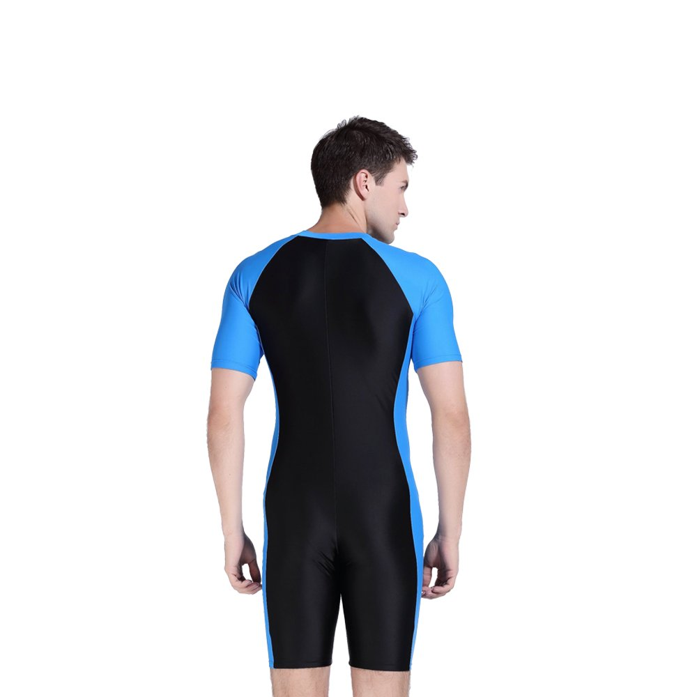 b025de9c18 SBART Men One-piece Diving Suit Short Sleeve Swimsuit Surfing Snorkeling Wetsuit  Swimming Swimwear: Amazon.co.uk: Sports & Outdoors