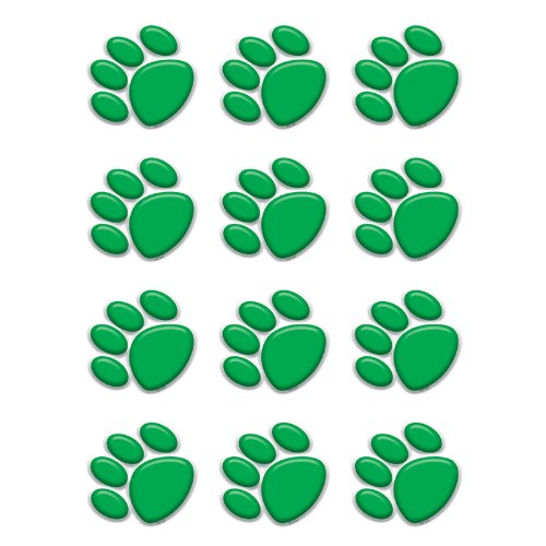 TEACHER CREATED RESOURCES GREEN PAW PRINTS MINI ACCENTS (Set of -