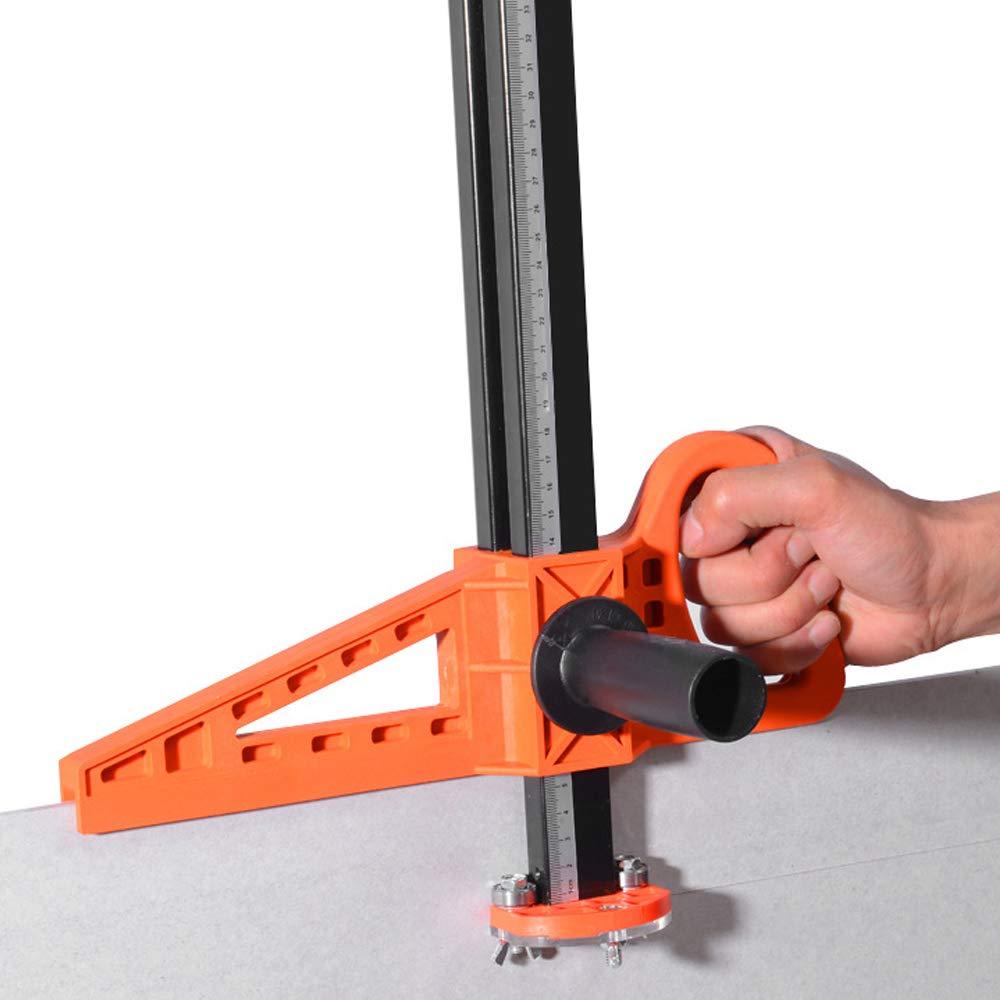 Docooler Utensile per il taglio del muro a secco di spinta del cartongesso portatile ad alta precisione con doppia lama