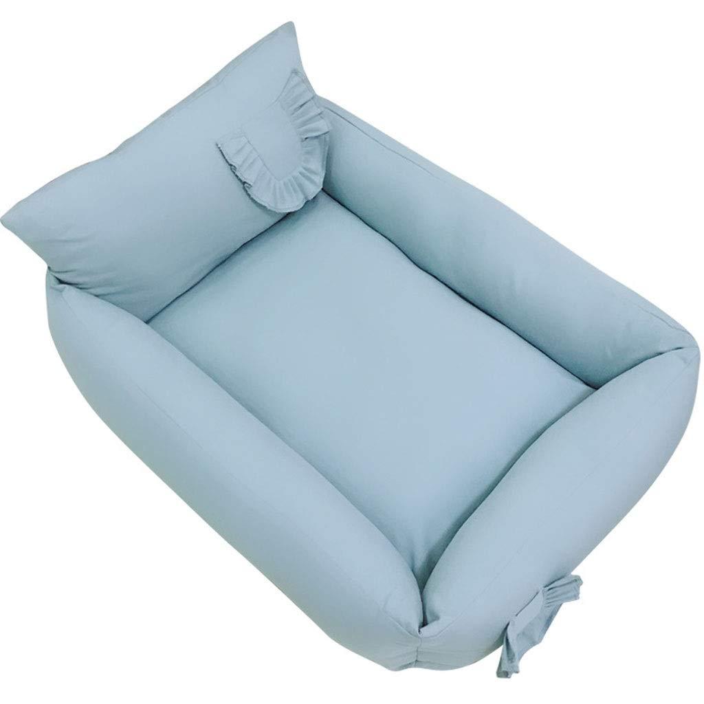 bluee 504023CM bluee 504023CM Pet Nest,Cotton Pet Nest Four Seasons Removable Washable Bite-Resistant Pet Bed (color   bluee, Size   50  40  23CM)