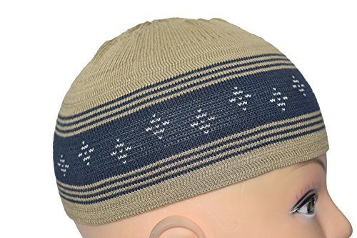 54c6baf8d73 Manaal Enterprises Elastic Hat Prayer Beanies Men Muslim Skull Cap 100% Islamic  Kufi Cotton 21