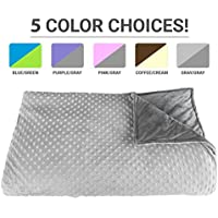 Premium Weighted Blanket, Perfect Size and Weight (12lb)...