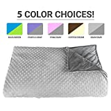 Kyпить Premium Weighted Blanket, Perfect Size and Weight (12lb) For Adults and Children. Deluxe CALMFORTER(tm) Blanket Relieves Anxiety, Stress, Agitation, Insomnia. (Moonshadow Gray/Chinchilla Gray) на Amazon.com