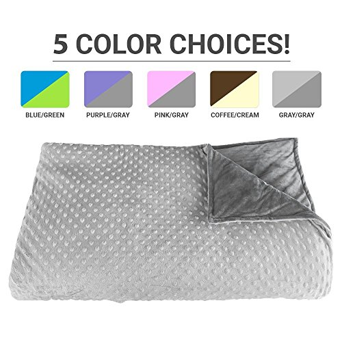 Premium Weighted Blanket, Perfect Size and Weight (12lb) For Adults and Children. Deluxe CALMFORTER(tm) Blanket Relieves Anxiety, Stress, Agitation, Insomnia. (Moonshadow Gray/Chinchilla Gray) by Platinum Health (Image #9)