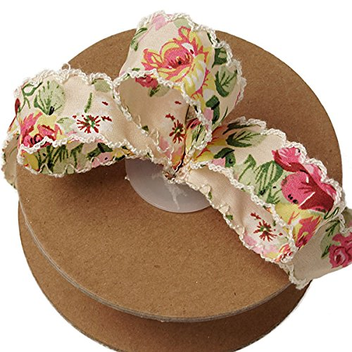 Victorian Floral Shabby Chic Ribbon - 1