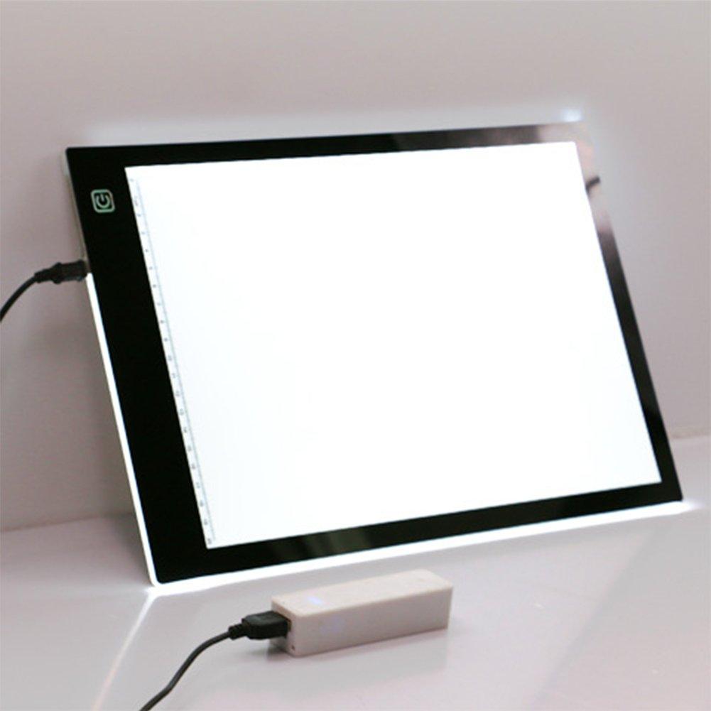 Formato A4 Tracing Light Board LED da TimeCollect (porta USB) - Luminosità ultra-sottile Tracing Table Pad per Sketch e Copy - artista del tatuaggio disegno di redazione grafica