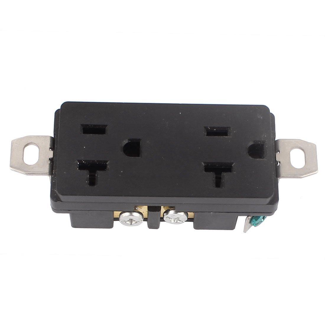 DealMux 125V 20A Wall Mount Twist Lock Straight Tamper Resistant Duplex Receptacle