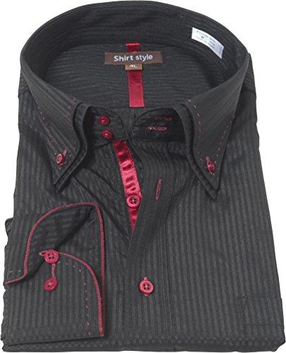 行く音サーバントシャツスタイル(shirt style)ysh-2003/S M L LL 3L/ワイシャツ 3L 4L 5L 6L 7L 8L 長袖 大きいサイズ メ