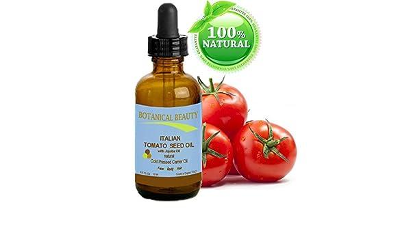 Tomate Semillas Aceite 100% puro/Natural/fría presionado portador de aceite. Para Rostro, Cuerpo, Labios, y pelo. 0,5 fl oz - 15 ml.