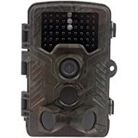 Hunting Wildlife Camera 1080p 12mp HD IR LEDS Infrared Night Vision 20m / 65ft IP66 Waterproof PIR Motion Detect Game Trail Cam 0.6s Trigger Time (Grey-Camo 0.6s, 46pcs 940nm IR LEDS)