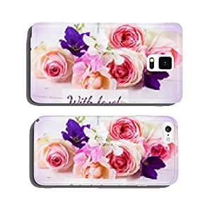 Postcard with elegant flowers and tag cell phone cover case iPhone6