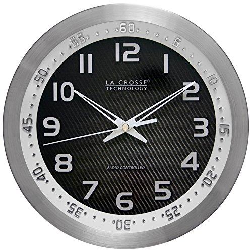 La Crosse Technology 404-1210S 10 Inch WWVB Chapter Ring Wall Clock - White