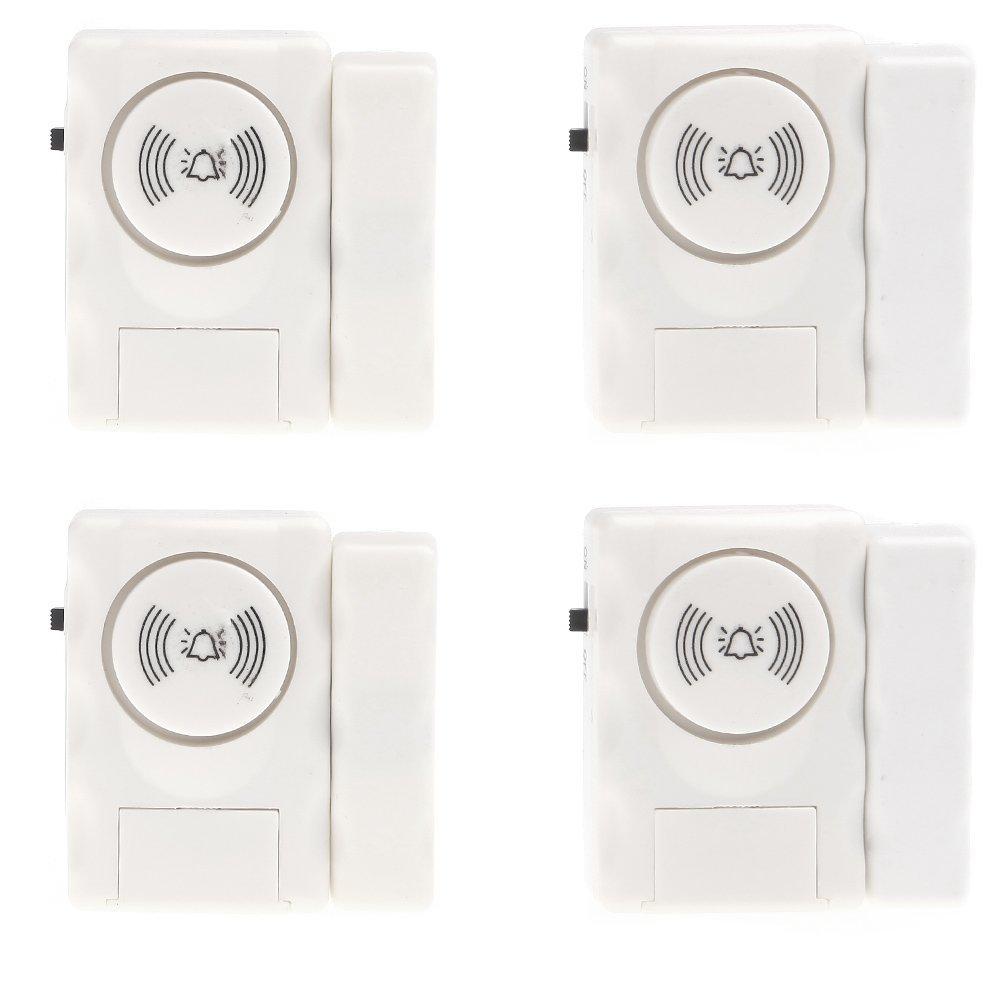 Drahtloses warnungssystem fenstertüralarm mit volumen 105 db sirene für bürohotel hauptsicherheit 4 Satz