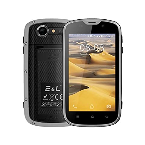 E&L W5 Rugged Unlocked Smartphone with Wateproof IP68 Dustproof 4G LTE Android 6.0 Unlocked Outdoor Phones - 〖AT&T / T-Mobile / Verizon〗 (Verizon Compatible Android Phone)
