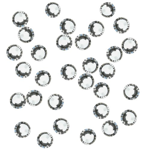 Genie Gems HFR10-CRY-10 Hot Fix Crystal Rhinestones Embellishment, Crystal Clear
