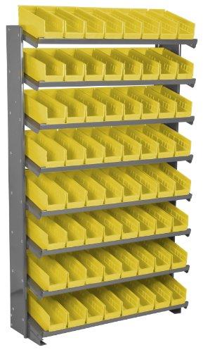 - Akro-Mils APRS120Y Single Sided Pick Rack with 64 30120 Yellow Shelf Bins