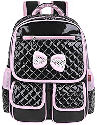 EURO SKY Princess Children School Backpack Bags for Girls Students PU Leather