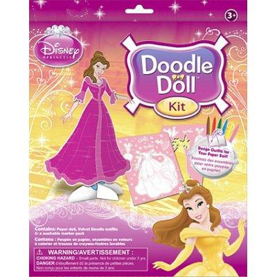 (8x10) Disney Princess Belle Doodle Doll Kit