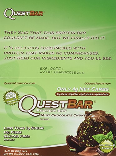 Quest Nutrition Mint Chocolate Chunk (Pack of 36)
