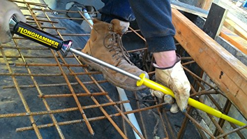 The Longhammer XL for Flat Head Nails upto 3 inch Long Nail Punch Nailer Driver Peashooter Nails where your hammer won't ()