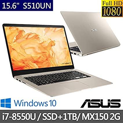 Asus S510UN-BQ132T S510UN Core i7 1TB 16GB WINDOWS 10 15.6 Inch