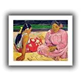 Paul Gauguin 'Women of Tahiti, on the Beach' unwrapped canvas A high quality print reproduction of an oil on canvas. This painting is a depiction of two women trying to find solace in the sands of a beach. A soulful and moving addition to any studio,...