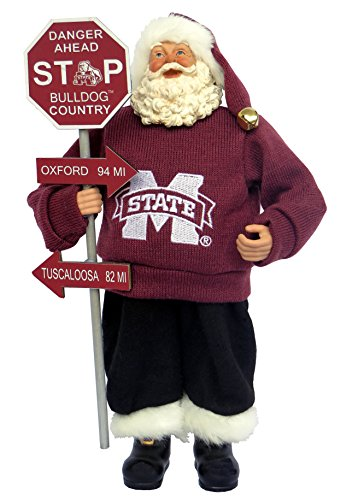 - Santa's Workshop MSB025 Mississippi State Country Santa Figurine, 12