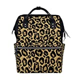 Seamless Leopard Pattern Fashion Diaper Bags Mummy Backpack Multi Functions Large Capacity Nappy Bag