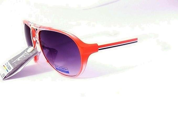 lunettes de soleil aviateur mixte homme femme mode tendance 023577 (monture orange, largeur:135mm hauteur:50mm)