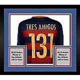 Framed Lionel Messi, Neymar, Luis Suarez Barcelona Autographed Tres Amigos Jersey - Fanatics Authentic Certified