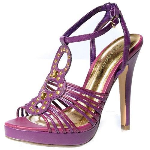Delicious JUDD Womens Strappy Sandals Purple OrGpz1