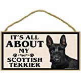 Imagine This Wood Breed Sign, It's All About My Scottish Terrier