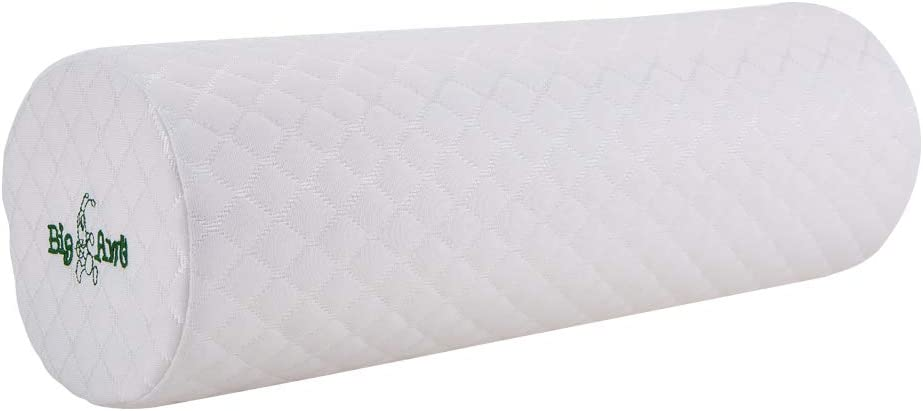 Memory Foam Round Cylinder Bolster Big Ant Neck Roll Pillow Cervical Bolster with Removable Soft Cover