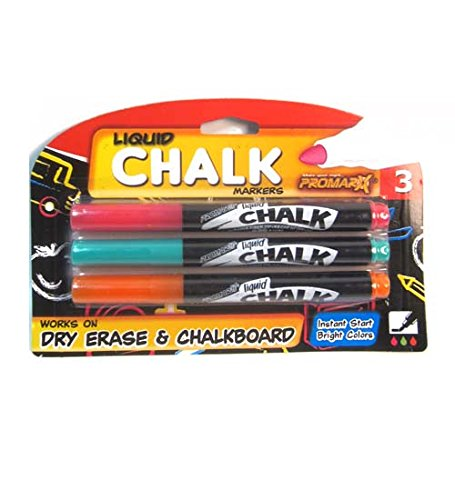 3Ct. Liquid Chalk Makers Assorted Colors, Case of 12