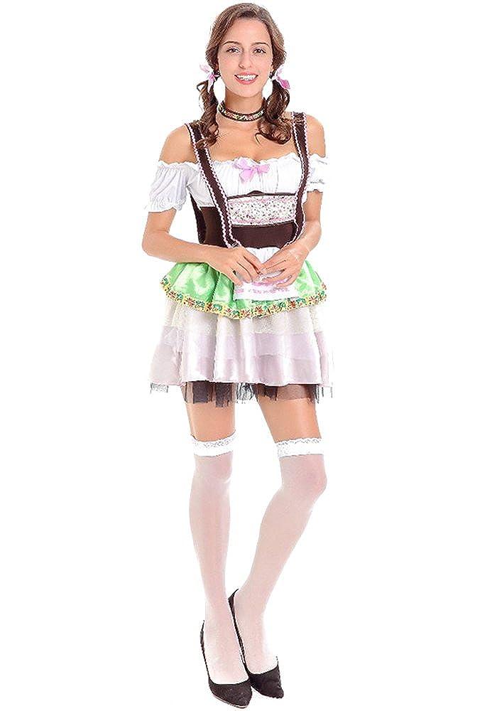 XFentech Vestido de Dirndl para Mujeres, Traje de ...