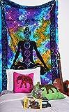 Indian Cotton Hippy Meditation Buddha Wall Hanging Bohemian Throw Decor Bedspread Tapestry Yoga Mat,Wall Decor By- Malwa Textile