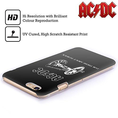 Officiel AC/DC ACDC Pour Ceux Étant Sur Le Point Rock Titres De Chanson Étui Coque D'Arrière Rigide Pour Apple iPhone 6 / 6s