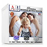 FULL Size NEW & IMPROVED PREMIUM Waterproof Mattress Protector For Maximum Comfort & Protection by American Bliss. Breathable, Hypoallergenic. Dust Mite / Bed Bug Proof, Fitted Sheet.