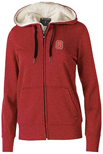 Wolfpack State Nc Jacket - Ouray Sportswear NCAA North Carolina State Wolfpack Women's Artillery Sherpa Jacket, Medium, Scarlet Heather