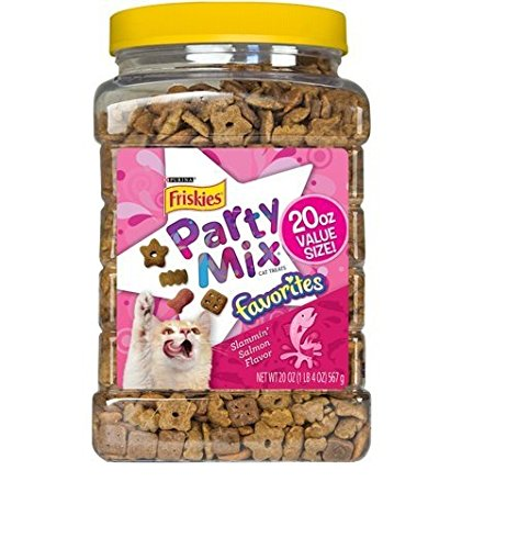 Cheap Purina Friskies Party Mix Favorites Slammin' Salmon Cat Treats (20 oz. Canister (3 pack))