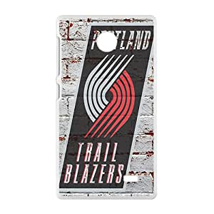 Portland Trail Blazers NBA White Phone Case for Nokia Lumia X Case