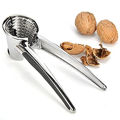 Makidar Nutcracker Walnut Cracker Zinc Alloy Anti-splash Design for Walnuts Pecan Nuts Brazil Nuts