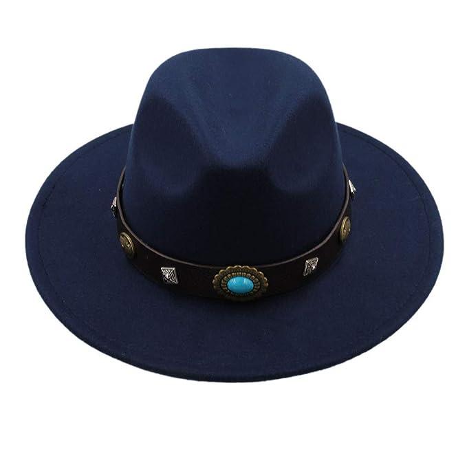 GHC gorras y sombreros Vintage Panama Sun Sombrero de copa, Sombrero Fedora de lana de