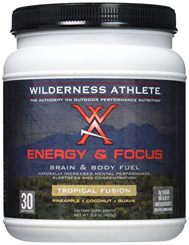 Wilderness Athlete Energy And Focus Powder  Tropical Fusion  15 9 Ounce