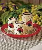 Ladybugs Tea Light Candle Garden Set