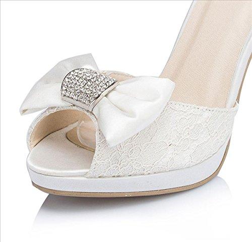 Kevin Boda Novia blanco nbsp;Ladies Prom jyg117 cinta de Fiesta sandalias Noche Lazo Fashion UUgrwqp