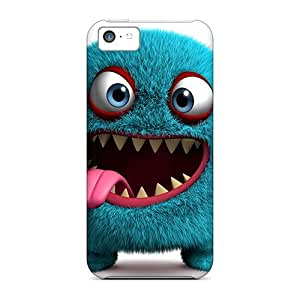 For Iphone 5c Tpu Phone Cases Covers(3d Monster)