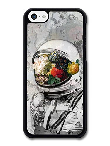 Retro Vintage Space Man Astronaut with Flowers Floral Photo case for iPhone 5C