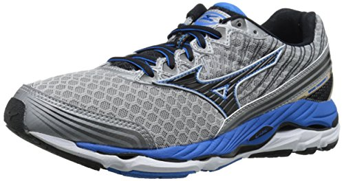 Mizuno Men's Wave Paradox 2 Running Shoe, Alloy/Black, 12 D US